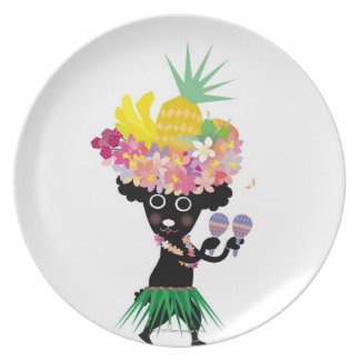 Dancing Dog Dinner Plate