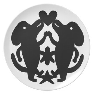 Dancing Dogs Party Plate