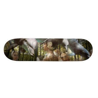 Dancing Dolphin Dreams Woods Skateboard Deck art