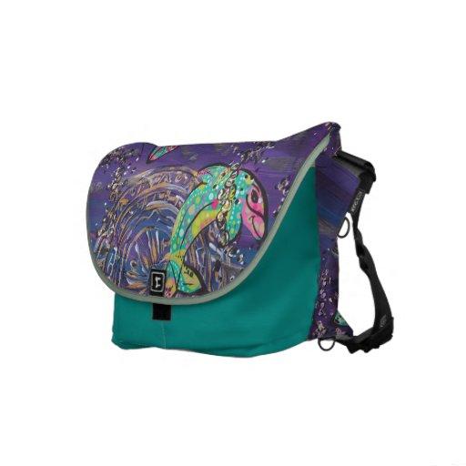 Dancing Dolphin Messenger Bag
