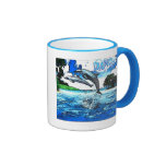 Dancing Dolphins Art Dance Coffee Mugs