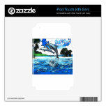 Dancing Dolphins Art Dance Decals For iPod Touch 4G