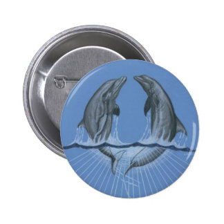 Dancing Dolphins Pinback Buttons
