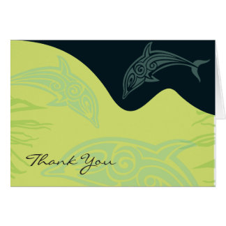 DANCING DOLPHINS Folded Thank You Card