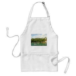 Dancing Dolphins in Miami Adult Apron