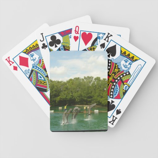 Dancing Dolphins in Miami Bicycle Playing Cards