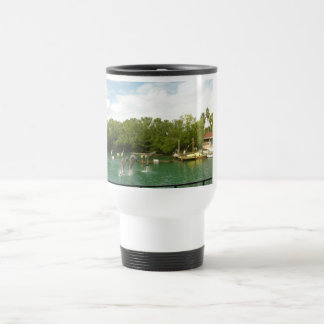 Dancing Dolphins in Miami 15 Oz Stainless Steel Travel Mug