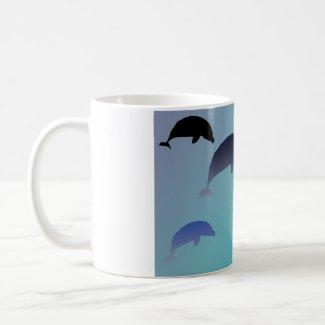 Dancing Dolphins Mug mug