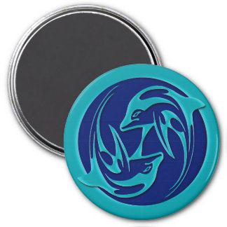 Dancing Dolphins Refrigerator Magnet