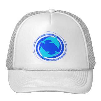 Dancing Dolphins Spiral Trucker Hat