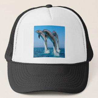 Dancing dolphins trucker hat