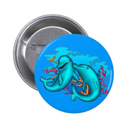 Dancing Dophins Pinback Button