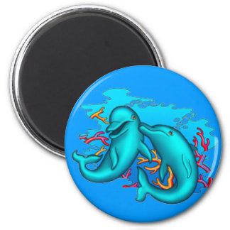 Dancing Dophins Fridge Magnet