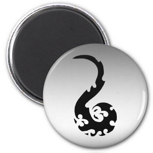 Dancing Dragon 2 Inch Round Magnet