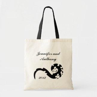 Dancing Dragon Bride and Groom Wedding Canvas Bag
