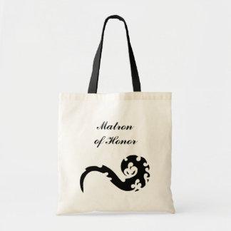 Dancing Dragon Matron of Honor Wedding Tote Bag