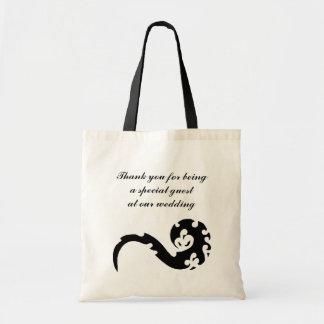 Dancing Dragon Thank You Wedding Canvas Bag