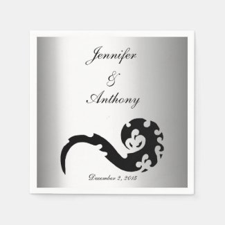 Dancing Dragon Wedding Disposable Napkin