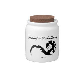 Dancing Dragon Wedding Favor Candy Jars