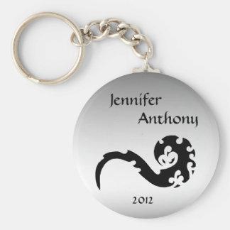 Dancing Dragon Wedding Keychain