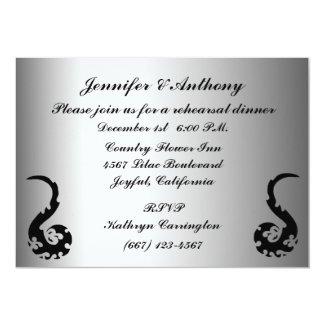 Dancing Dragon Wedding Rehearsal Dinner 5x7 Paper Invitation Card