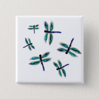 Dancing Dragonfly Art Button