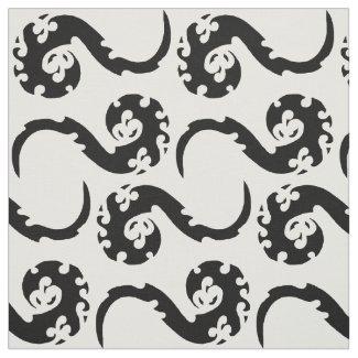 Dancing Dragons Abstract Fabric