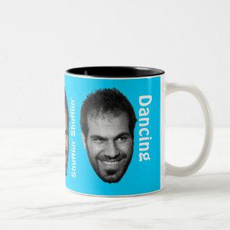 Dancing Dror Happy Face! Two-Tone Coffee Mug