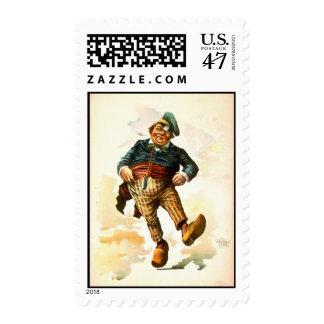Dancing Dutchman 1890 Postage