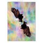 Dancing eagles card