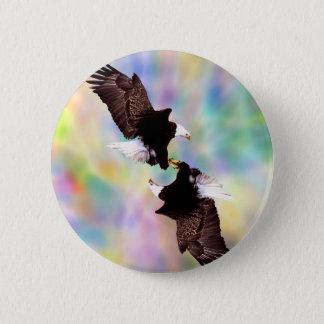 Dancing eagles pinback button