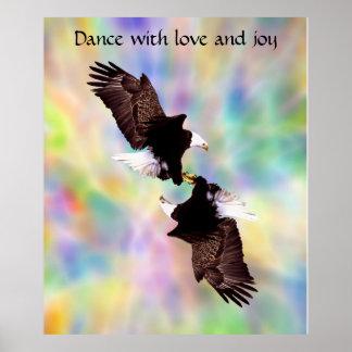 Dancing eagles poster
