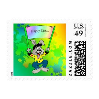 Dancing Easter Bunny Stamp