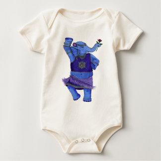 Dancing Elephant Baby Bodysuit