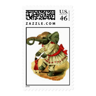 Dancing Elephant Postage Stamps
