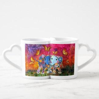 Dancing Elephants Coffee Mug Set
