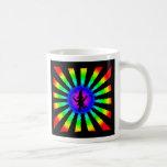 Dancing Elf in Rainbow Sun Rays - Mugs