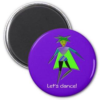 Dancing elf magnet magnet
