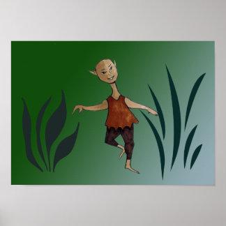 Dancing Elf Poster