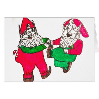 DANCING ELVES christmas card
