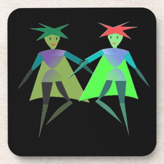 Dancing Elves Cork Coaster