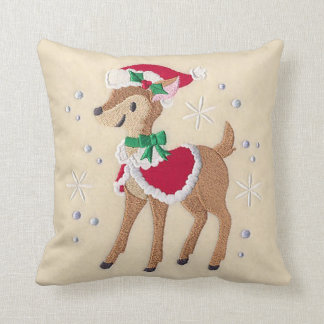 Dancing Embroidered Rudolph Pillow