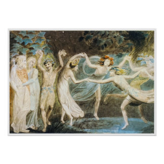 Dancing Fairies Poster by William Blake