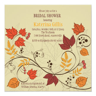 Dancing Fall Leaves Invitation