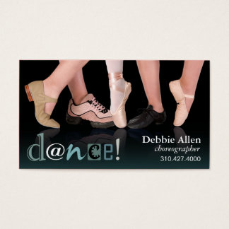 """Dancing Feet"" - Choreographer, Dancer, Instructor Business Card"