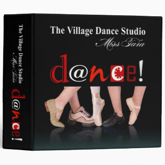 Dancing Feet Notebook for Angie 3 Ring Binder