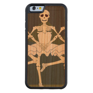Dancing Female Skeletons Carved Cherry iPhone 6 Bumper Case