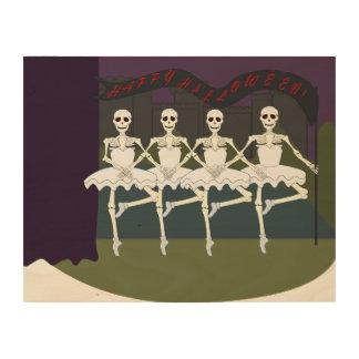 Dancing Female Skeletons Wood Prints