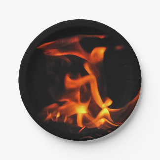 Dancing Fire 7 inch Paper Plate