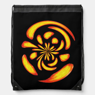 Dancing fire balls drawstring bag